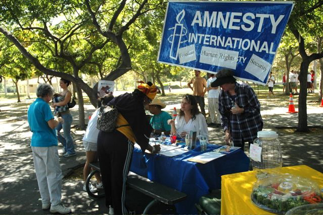 Tabling at the Walk For Hope, 2006
